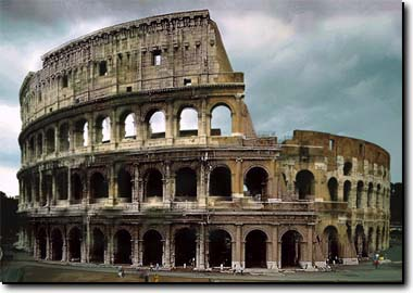 Tourism and art - Monuments of Rome - Coliseum or Flavian Amphitheater